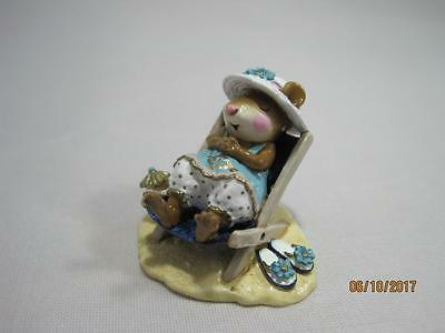 Wee Forest Folk Limited Edition Sun Snoozer - Mouse Social 2006 - in WFF Box