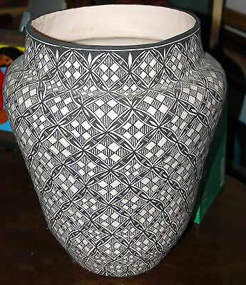 Native American Acoma Pottery By Sharon Stevens, Huge~Asymmetrical~Buy Now!