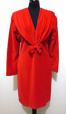 CULT VINTAGE '80 Abito Vestito Donna Velluto Velvet Woman Dress Sz.S - 42