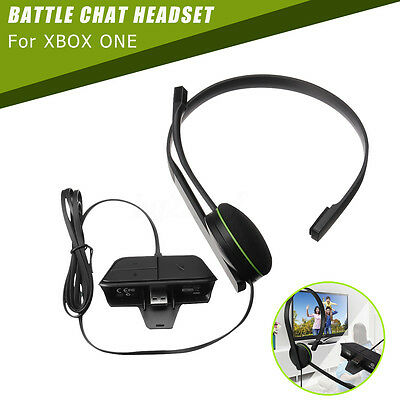 Wired Chat Headset Headphones with Mic Microphone Built in Adapter For Xbox One