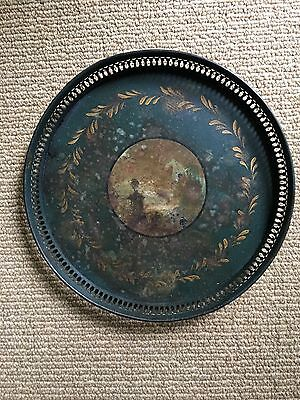 Antique French Hand Painted Toleware Tray Gallery