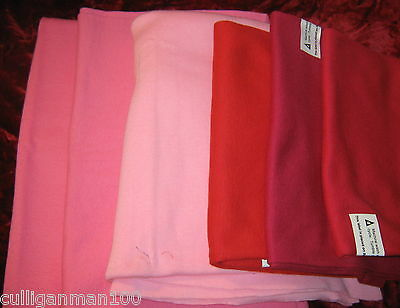 1 - lot of 6 - T'shirt Ribbing Fabric in Red & Pink (2017-115)