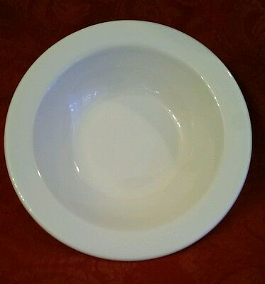 Shenango China Bowl White Rimmed Heavy Restaurant Ware Vintage Newcastle Pa 6""
