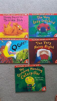 Set of 5 Little Tiger Press Picture and Story Books with CDs
