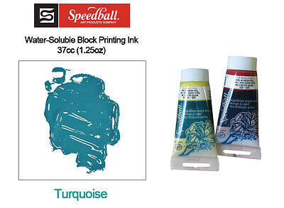 Speedball Water Soluble Block Printing Ink Turquoise 37cc