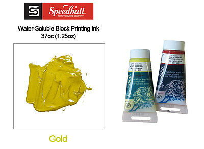 Speedball Water Soluble Block Printing Ink Gold 37cc