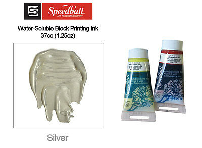 Speedball Water Soluble Block Printing Ink Silver 37cc