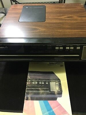 RCA Selectavision Stereo Video Disc CED Player Model #SFT100  tested/working