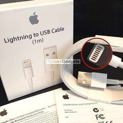 OEM Apple iPhone 6S Plus 5S 7 Plus Lightning Charger Cable Original 1M