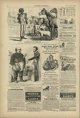 Freed Negro Cutting Old Associates 1863 antique Harpers Civil War print