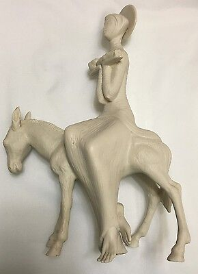 ** FREE SHIPPING **Cybis Lady Holding Baby On Donkey Limited Edition #5
