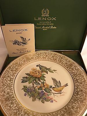 Lenox And Boehm Plate - The Goldfinch 1971