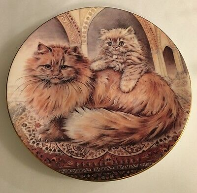 Royal Worcester Plate - Cats And Kittens Collection - Cream Persian 1990