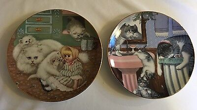 The Hamilton Collection Plate - Country Kittens - 1988 Set Of 2