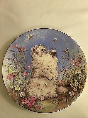 Royal Worcester Plate - Kitten Encounters Collection - Flutter By