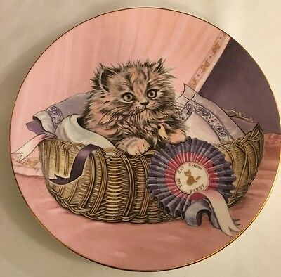 Royal Worcester Plate - Kitten Classics Collection - First Prize 1985