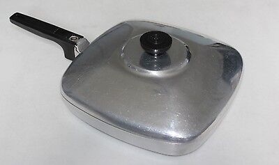 "WAGNER WARE MAGNALITE  Sidney O 10"" Square Skillet Fry Pan #4510 - Aluminum"