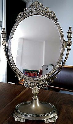 Vintage MBFL brass dressing table mirror
