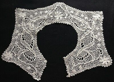 "Absulutely Incredible Pattern of Irish Crochet Collar, 14 3/4"" around neck,"