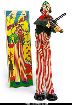 TPS Happy the Violinist circus clown plays violin T.P.S. Japan 1957