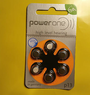 Power One Zinc Air p13 High Level Hearing Aid Batteries - *Choose your quantity*