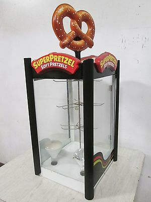 Commercial Heated Lighted Counter Top Super Pretzel Merchandiser Display Case