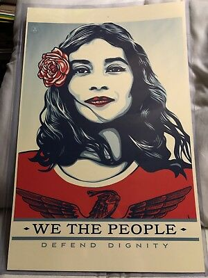 Shepard Fairey Obey Giant We The People Defend Dignity Art Print Poster 11x17