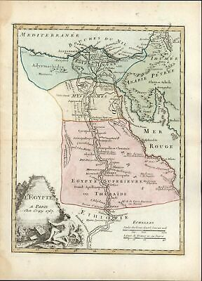 Egypt Nile Delta Ethiopia Nubia Darfur Pyramids 1768 Le Rouge old antique map