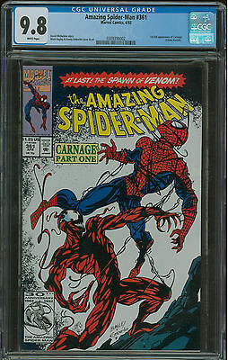 Amazing Spider-Man #361 CGC 9.8 1st appearance of Carnage 1st print