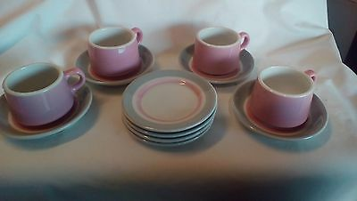 Shenango China: 12 piece coffee set:  4 mugs, 4 saucers, 4 plates