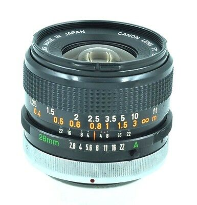 CANON LENS FD 28mm 1:2.8 S.C.**Real Nice**