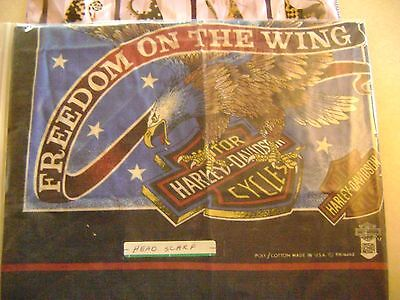 Harley Davidson Motorcycle Scarf RARE Freedom On The Wing
