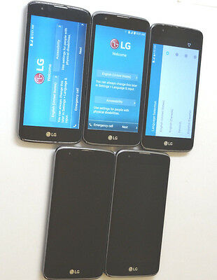 Lot of 5 LG K7 K330 T-Mobile Smartphones All Power On Good LCD AS-IS GSM