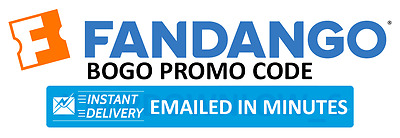 Fandango BOGO Buy 1 Get 1 Movie Ticket Promo Code INSTANT DELIVERY