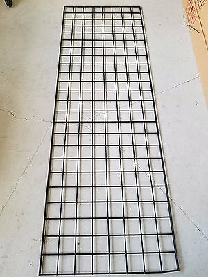 Lightly Used Black Grid Wall in Both 6 & 8 Ft.