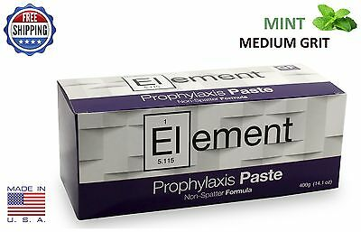 Element Prophy Paste Cups Mint Medium 200/box  Dental Non Splatter W/fluoride