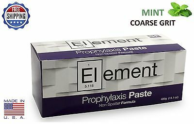 Element Prophy Paste Cups Mint Coarse 200/box Dental Non Splatter W/fluoride