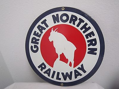 "Mountain Goat GREAT NORTHERN RAILWAY Metal Sign 10"" Reproduction *"