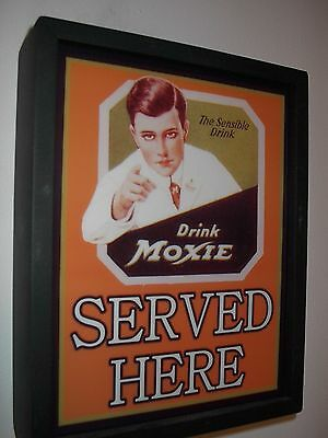 ^^^ Moxie Soda Fountain Diner Bar Man Cave Advertising Lighted Sign