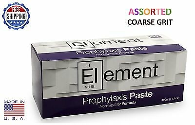 Element Prophy Paste Cups Assorted Coarse 200/box  Dental Non Splatter Fluoride