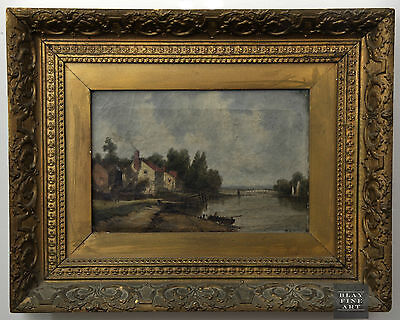 Original Oil Painting Antique 19th Century Old Masters Style Landscape Wall Art