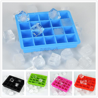 20 Mould Ice Cube  Silicone Mold Tool Jelly Ice Cubes Tray Pudding Mould 5Colors