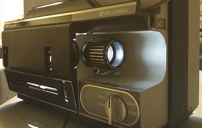 Bell and Howell 1638 C 8mm Multi Motion Movie Projector with Film Trimmer