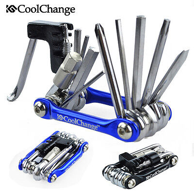 Cycling Multi-function Bike Bicycle Spanner Wrench Repair Tools Folding Tool Kit