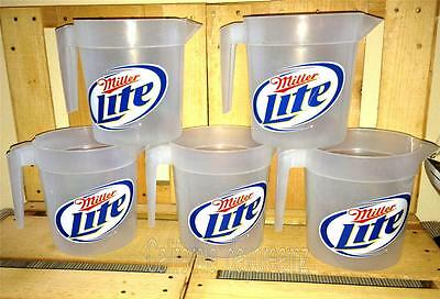 New 5 Miller Lite Pitchers Beer Plastic Drink Snack Holder Retsaurant Bar Party
