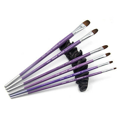 Eval 100%Pure Kolinsky Sable Acrylic Oil Painting Brushes Set Face Body Painting
