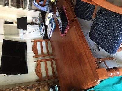 Dining suite - solid wooden table and 6 chairs