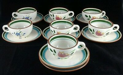 """Stangl Country Garden Seven (7) 2"""" Cups & Eight (8) Saucers."""