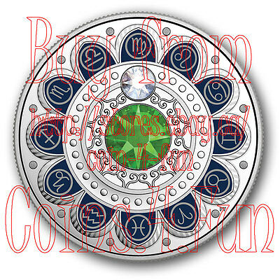 2017 Canada Zodiac Series #9 Virgo - $3 Pure Silver Coin with Swarovski Crystals