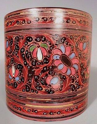 Fine Old Burma Burmese Betel Nut Polychrome Lacquered Container ca. 20th century